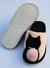 Жіночі тапочки оптом. 36-41рр. Модель тапочки В7 котик, фото 2