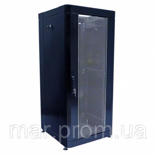 "Шкаф 19 "" 28U , 610 х 675 мм ( Ш * Г ) , черный"