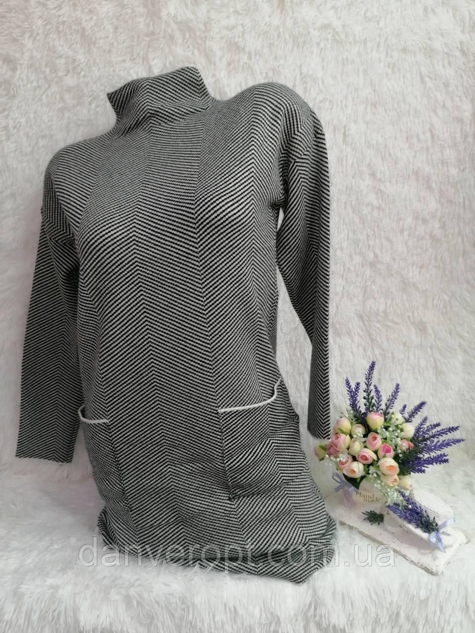 Платье женское модное стильное с карманами размер универсальный 46-50 купить оптом со склада 7км Одесса