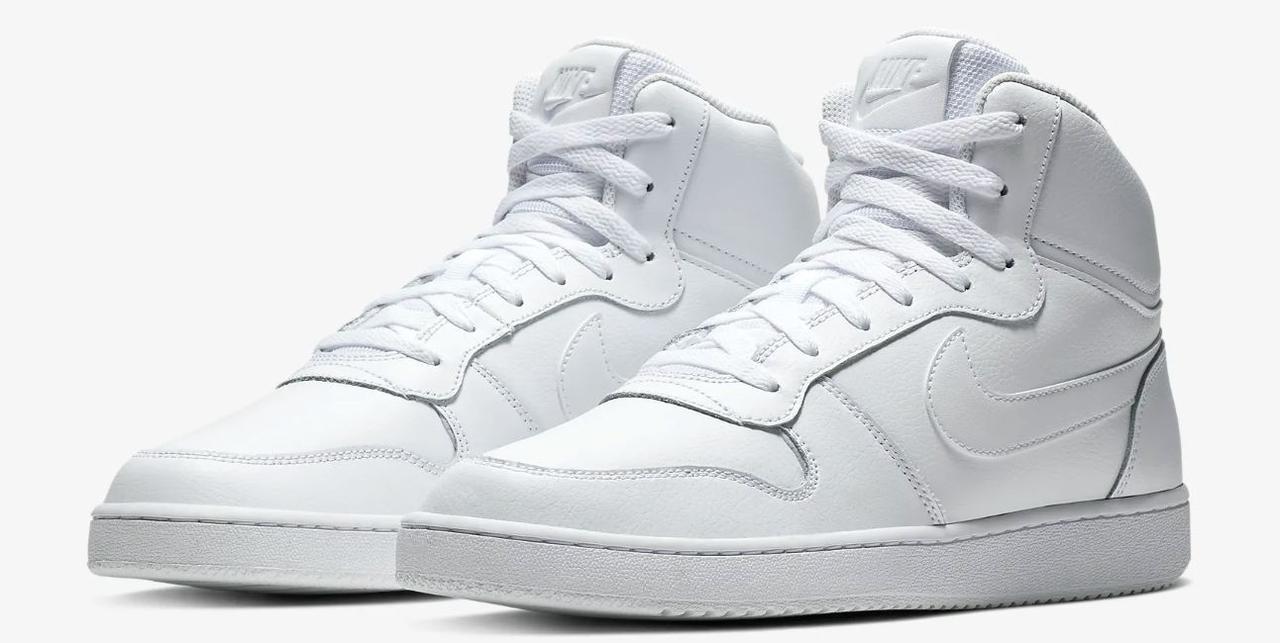 Nike Ebernon Mid Air Zoom ART AQ1773-100 Оригинальные белые кожаные кроссовки