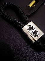 Плетений шкіряний брелок для авто Lada кожаный для лади Брелок для автомобильных ключей