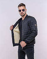 Куртка мужская бомбер / плащевка, синтепон 150, мех иск / Украина 47-1227, фото 1