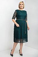 Нарядное платье с юбкой плиссе с 50 по 56 размер