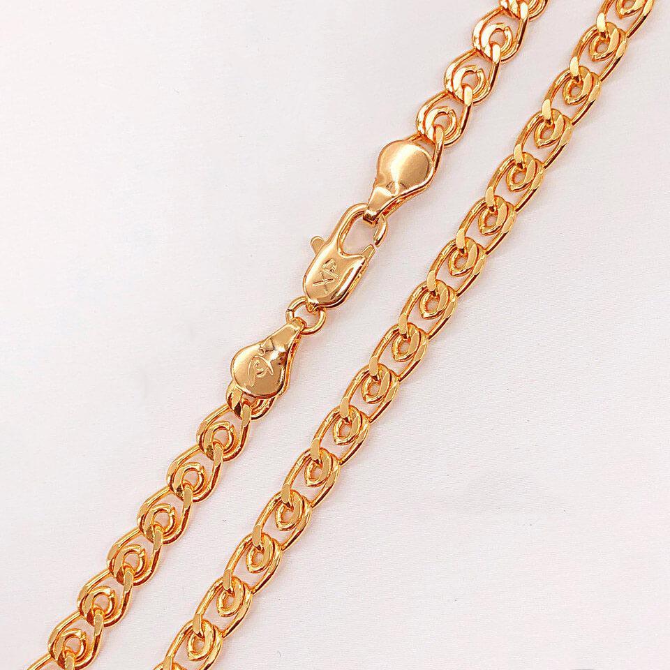 """Цепочка Xuping Jewelry 60 см х 5 мм """"Лав"""" медицинское золото, позолота 18К. А/В 4191"""
