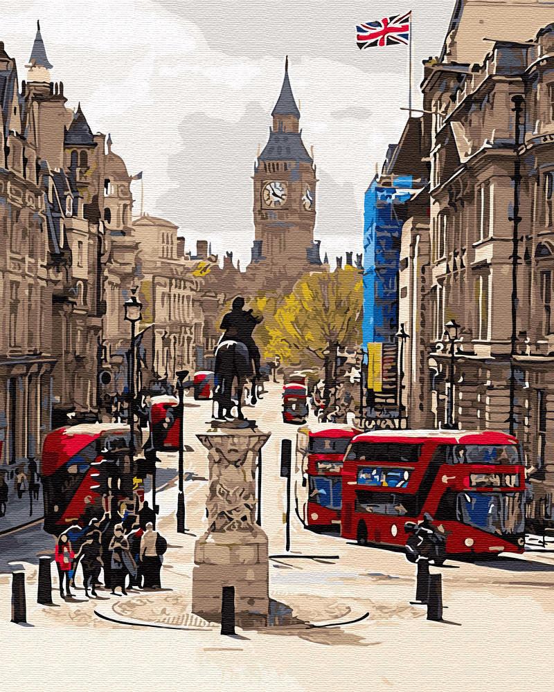 Раскраска для взрослых Лондонский пейзаж (BRM30082) 40 х 50 см