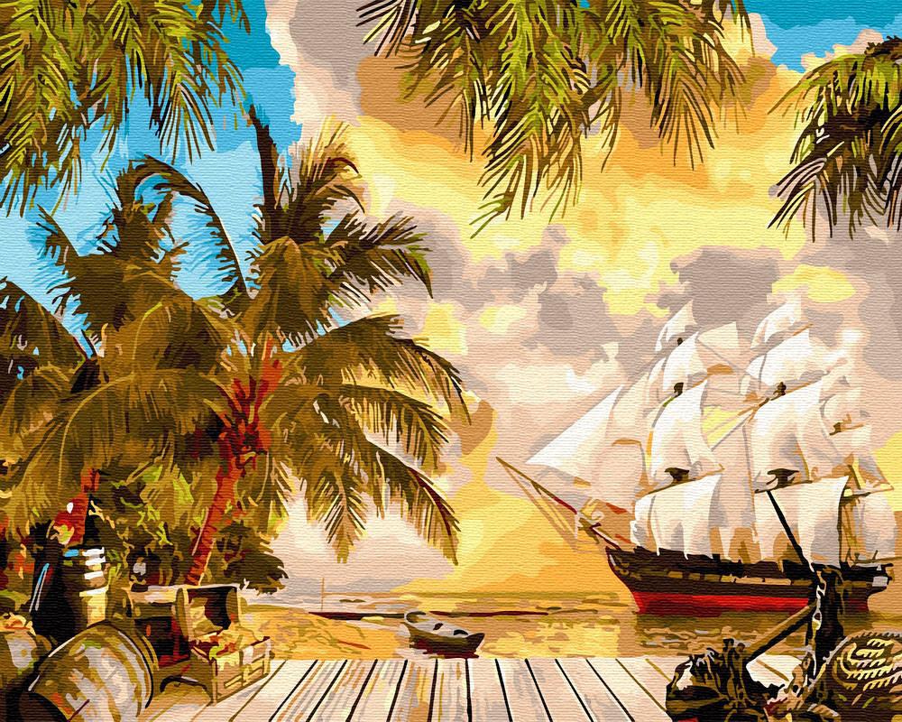 Живопись по номерам Карибский рай (BRM30112) 40 х 50 см