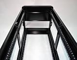 """Шкаф 19 """" 28U , 610 х 675 мм ( Ш * Г ) , черный, фото 4"""