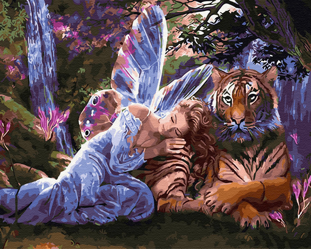 Рисование по номерам Фея и тигр (BRM30121) 40 х 50 см
