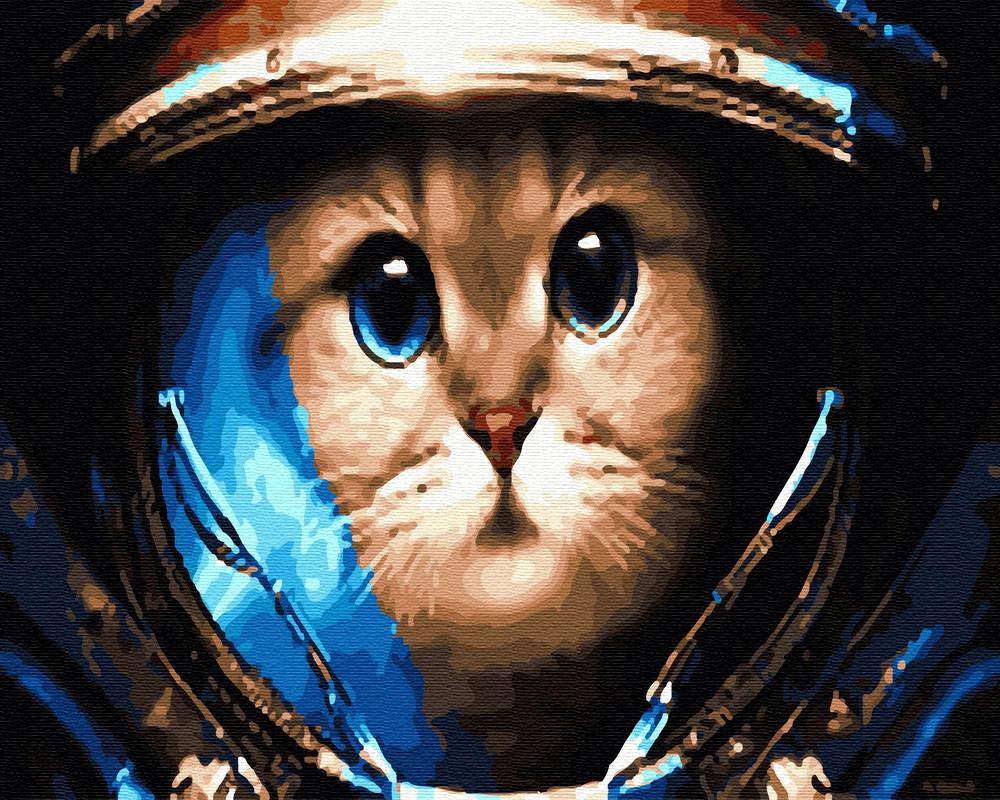 Раскраска по цифрам Кот космонавт (BRM30122) 40 х 50 см