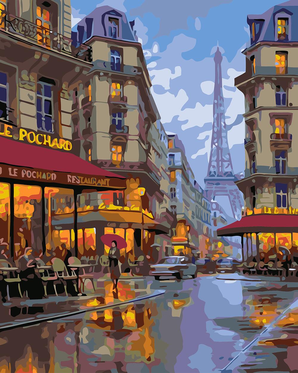 Картина за номерами Вечірній Париж (BRM3525) 40 х 50 см