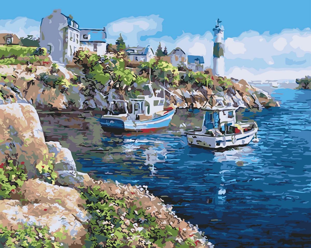 Картина по номерам Живописная бухта (BRM21220) 40 х 50 см Brushme