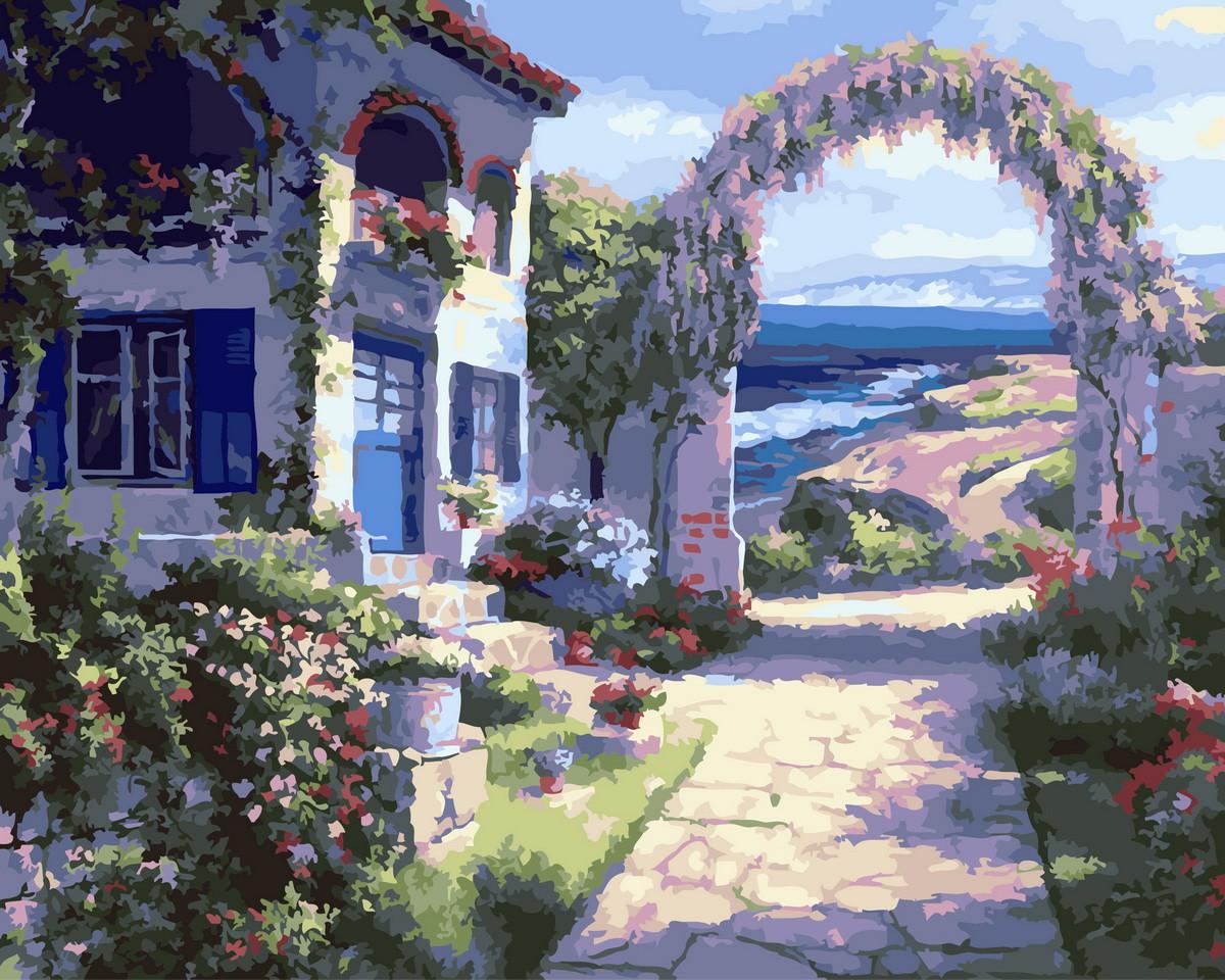Картина по номерам Дом на взморье (BRM22911) 40 х 50 см Brushme