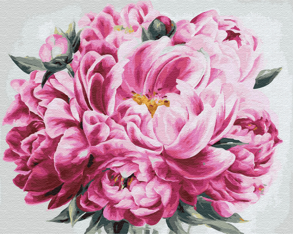 Картина по номерам Розовый пион (BK-GX24600) 40 х 50 см Brushme [Без коробки]