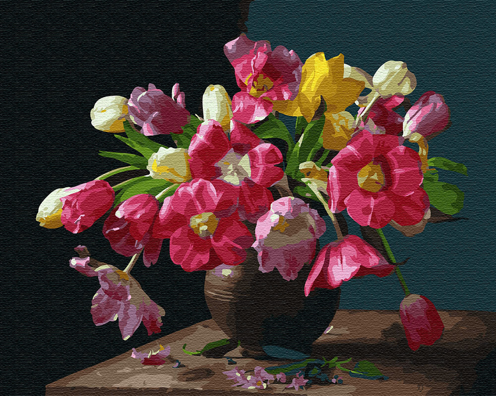 Картина по номерам Красочные цветы (BRM25929) 40 х 50 см Brushme