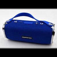 Мощная портативная bluetooth колонка Sound System H24 Pro Hopestar Синяя