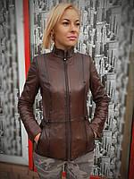 Женская осенняя кожаная куртка, фото 1