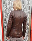 Женская осенняя кожаная куртка, фото 4