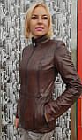 Женская осенняя кожаная куртка, фото 3