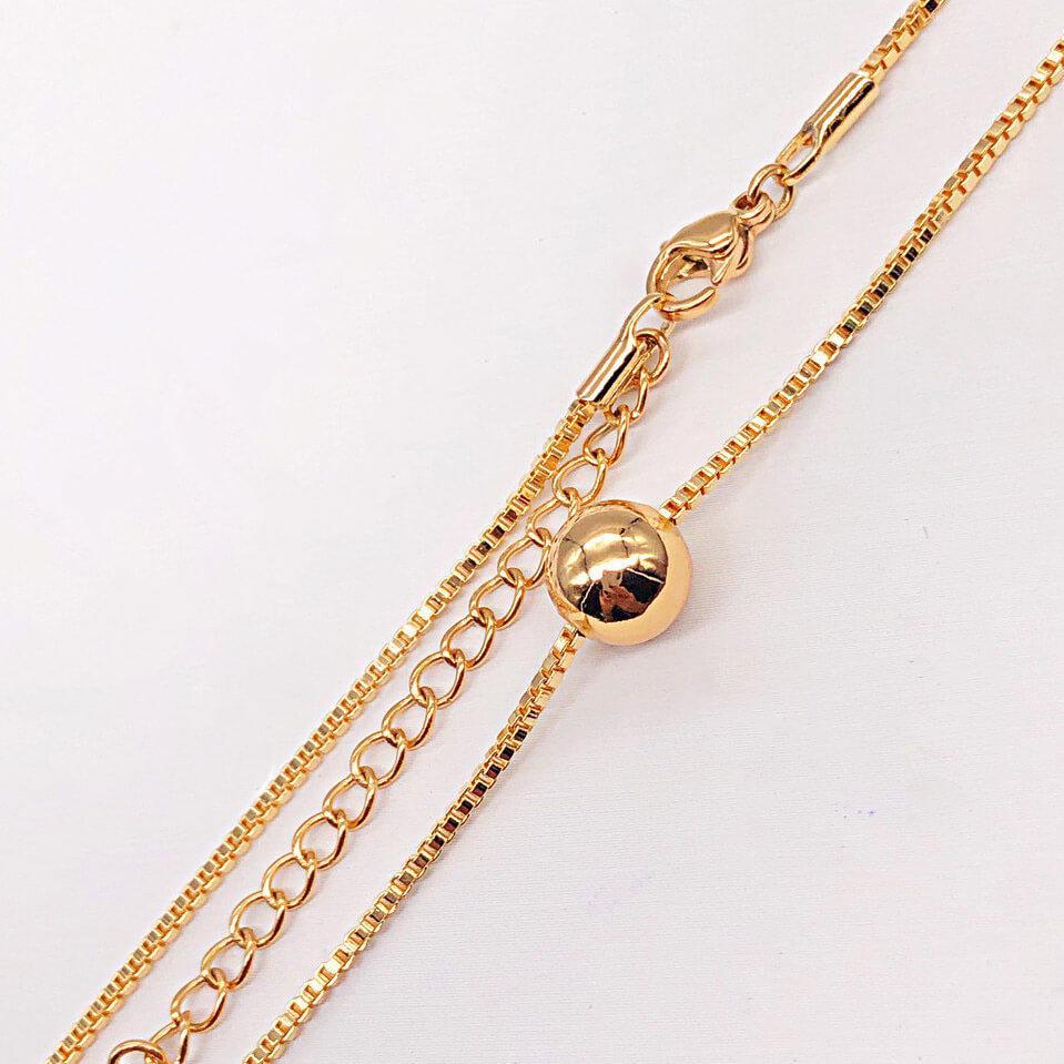 "Цепочка с кулоном Xuping Jewelry 46/51 см х 1,2 мм ""Золотой шарик"" медицинское золото, позолота 18К. А/В 4196"