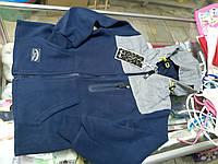 Толстовка флисовая кофта детская на молнии  р.134 - 140