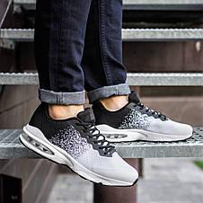 Кросівки спортивні чоловічі білі з чорним, фото 2