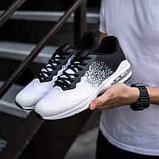 Кросівки спортивні чоловічі білі з чорним, фото 3