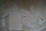 Белая водолазка рубчик для девочки 30-38