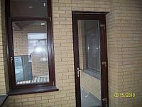Двери со стеклопакетом