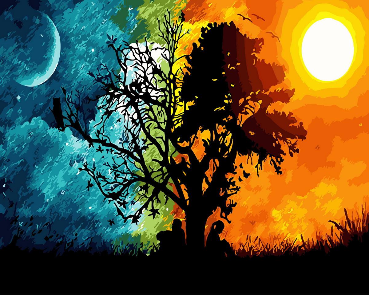 Картина раскраска Закат и рассвет (BRM29446) 40 х 50 см Brushme
