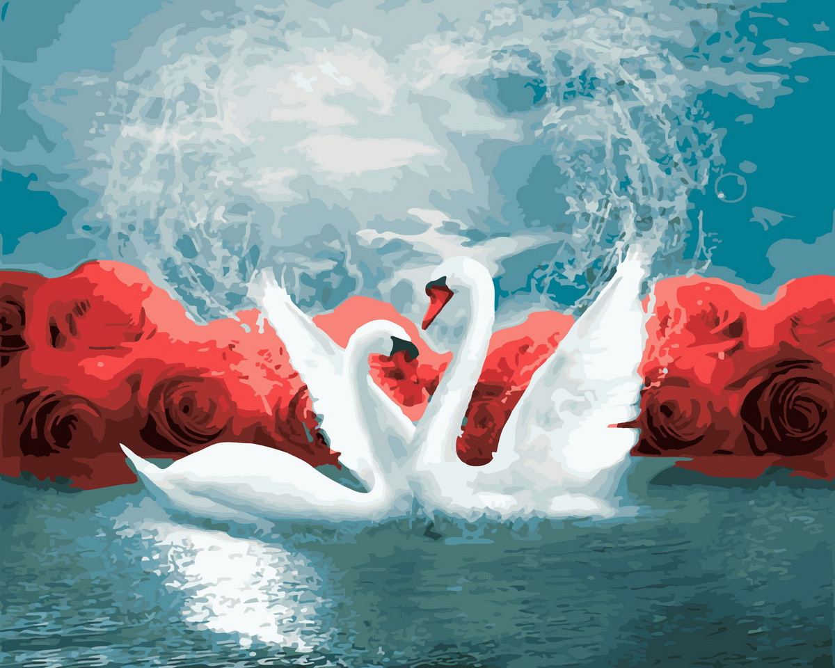 Картина по номерам Танец лебедей (BRM29774) 40 х 50 см Brushme
