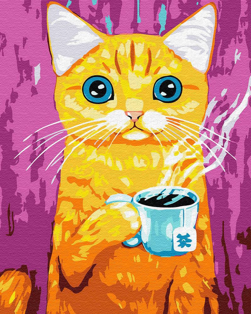 Раскраска для взрослых Голубоглазый кот (BRM30323) 40 х 50 см Brushme