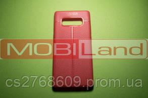 """Силікон """"Шкіра"""" Samsung Note 8, N950 червоний"""