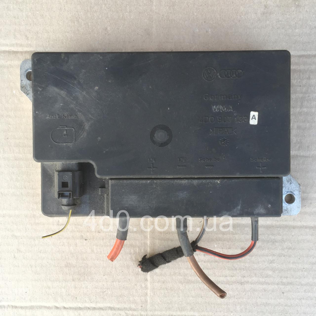 4D0907133A Блок управління обігріву скла на Audi A8 D2
