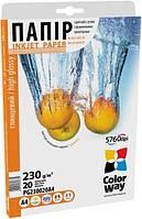Для печати CW бумага глянцевая 230г/м, А4 PG230-20 карт.уп.