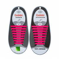 Силиконовые шнурки Coolnice Розовые
