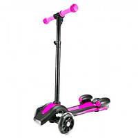 Детский самокат с турбиной, светящимися колесами, музыкой и Bluetooth Pink
