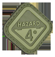 Нашивка на липучке Hazard 4 Diamond Shape Hazard 4 зеленая (PAT-H4-GRN)