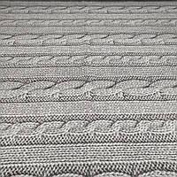 Фланель 'вязанка серая' 100% хб для постели 220 см., фото 1