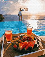 Раскраска по цифрам Райский завтрак (PGX29699) 40 х 50 см Brushme Premium