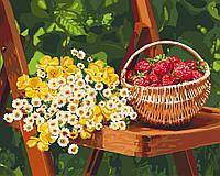 Раскраска по цифрам Летние дары (KH5560) 40 х 50 см Идейка