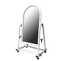 Зеркало напольное металлическое обувное белое 35 см