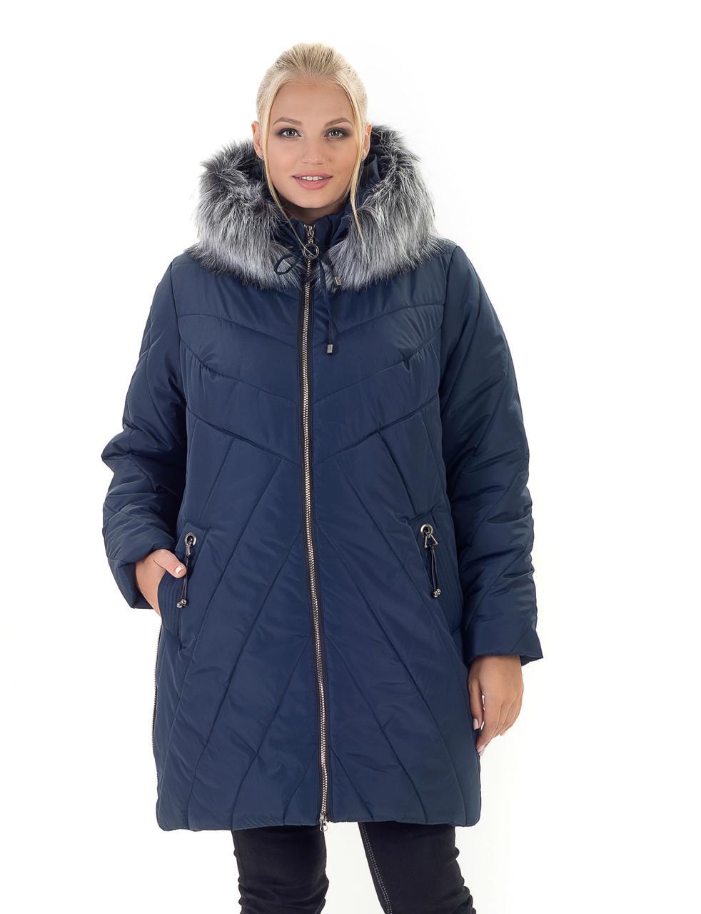 Женская зимняя куртка с мехом Харьков
