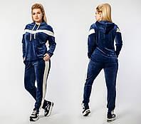 Женский спортивный велюровый костюм (БАТАЛ)