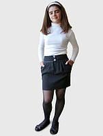 Юбка на бедрах школьная для девочки (Ю-66)Наличие размера уточняйте!