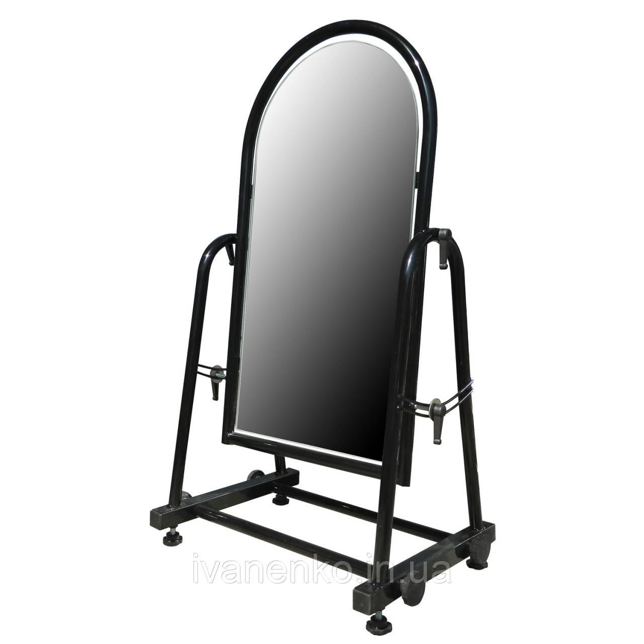 Зеркало напольное металлическое обувное 35 см, фото 1
