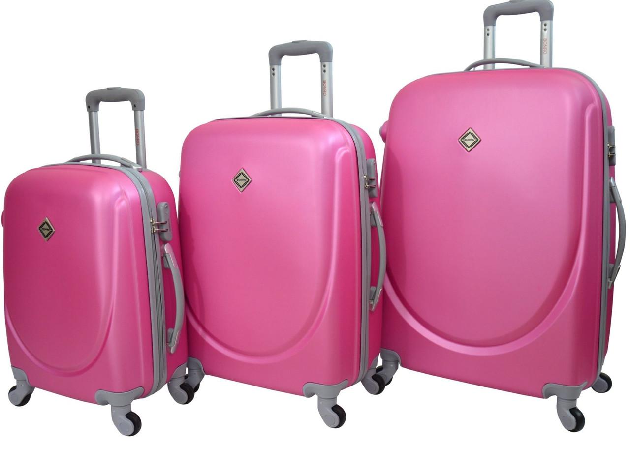 Чемодан Bonro Smile набор 3 штуки, розовый
