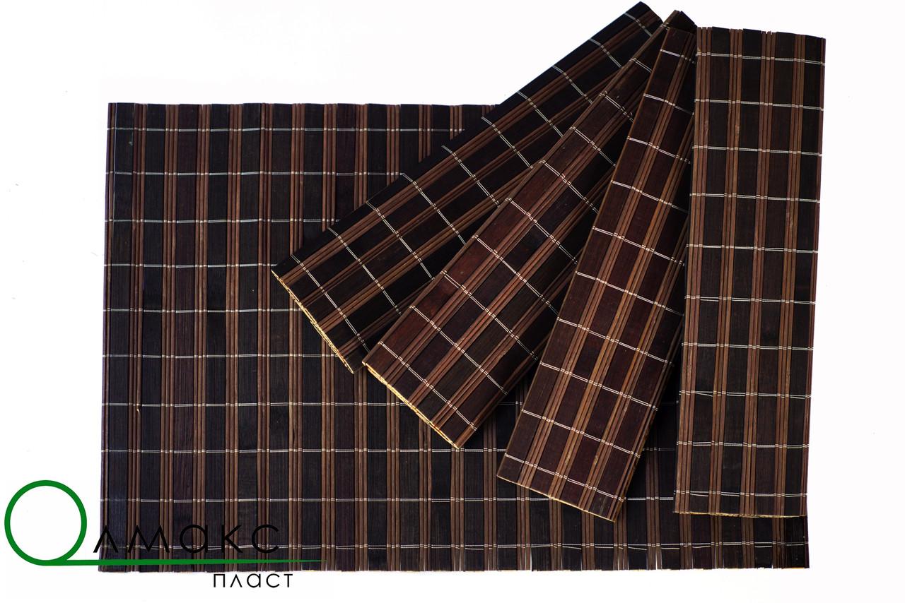 Бамбуковая салфетка двухсторонняя для сервировки стола в кафе,рестораны и для дома, 30см *45см
