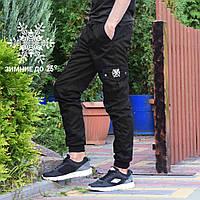 Теплые зимние мужские карго штаны , 3 цвета от бренда Rextim