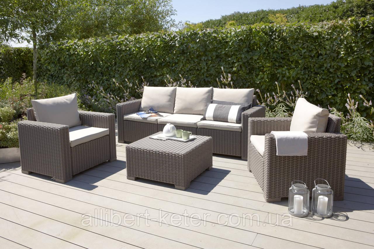 California 3 Seater Set садовая мебель из искусственного ротанга, фото 1