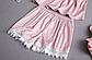 Пижама атласная женская розовая П112, фото 6